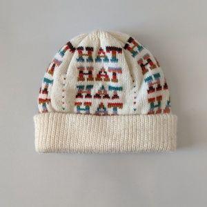 """Vintage Knit """"Hat"""" Beanie"""